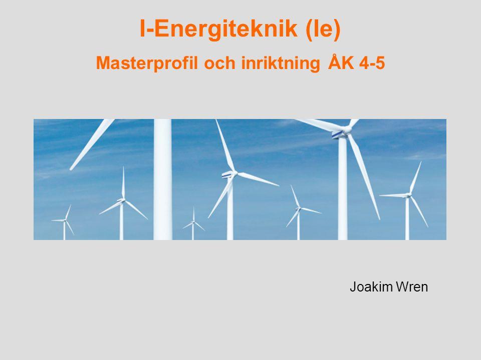 I-Energiteknik (Ie) Masterprofil och inriktning ÅK 4-5