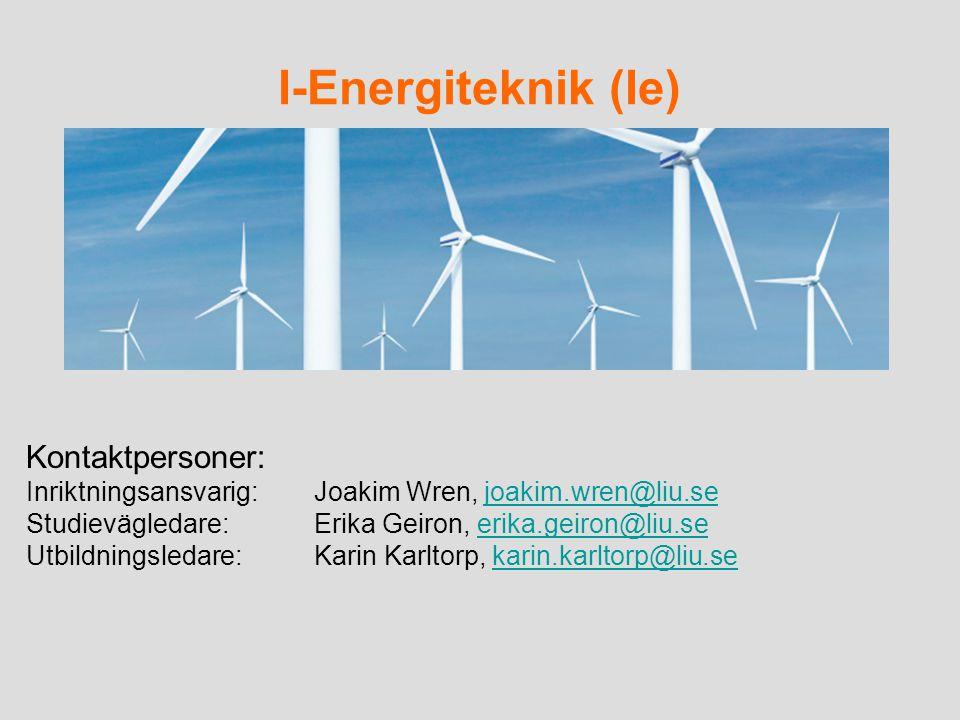 I-Energiteknik (Ie) Kontaktpersoner: