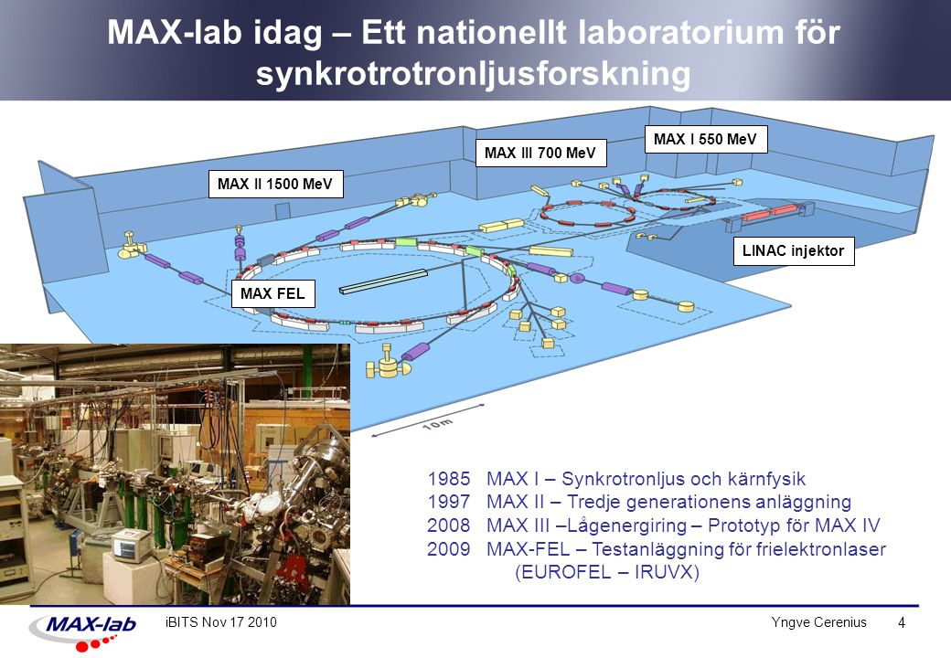 MAX-lab idag – Ett nationellt laboratorium för synkrotrotronljusforskning