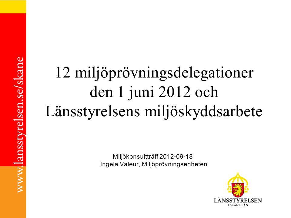 Miljökonsultträff 2012-09-18 Ingela Valeur, Miljöprövningsenheten