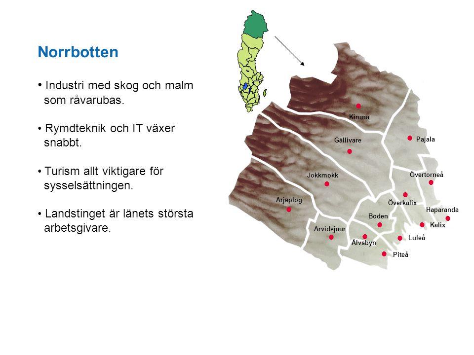 Norrbotten Industri med skog och malm som råvarubas. · Pajala ·