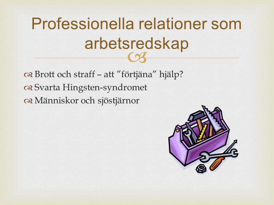 Professionella relationer som arbetsredskap