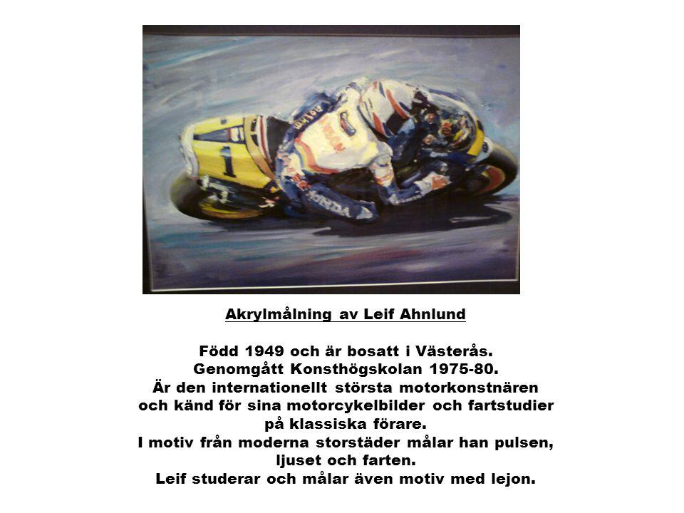 Akrylmålning av Leif Ahnlund Född 1949 och är bosatt i Västerås.