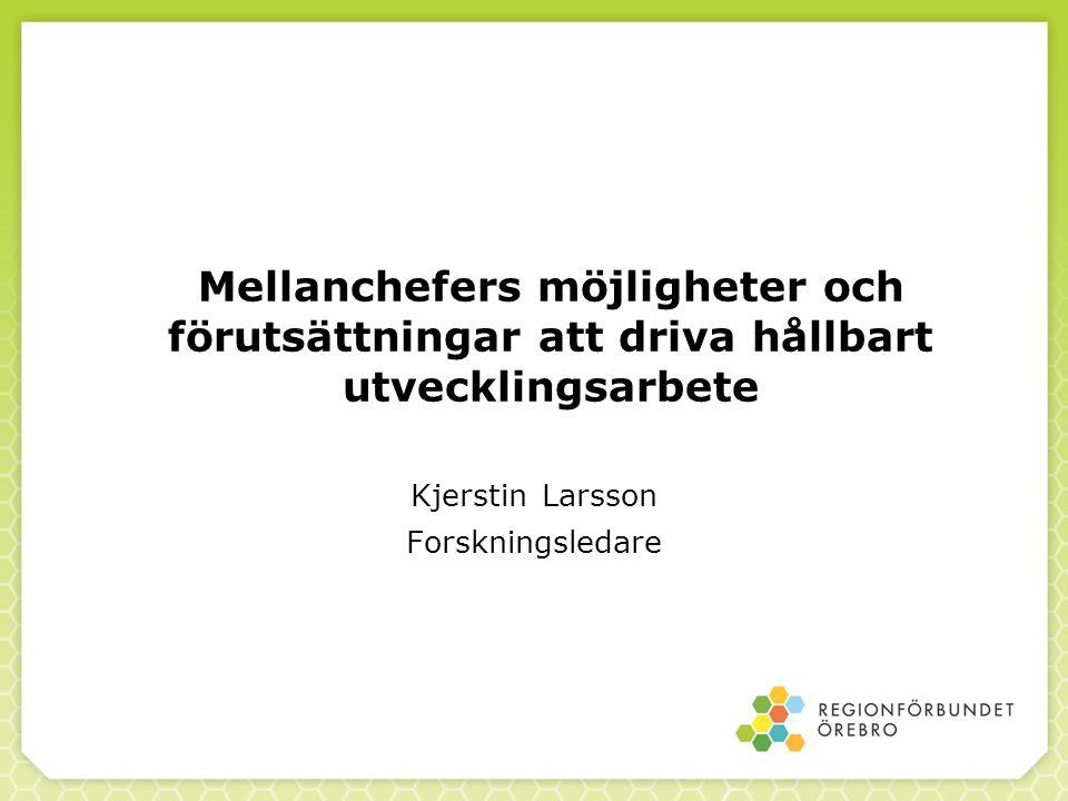Kjerstin Larsson Forskningsledare