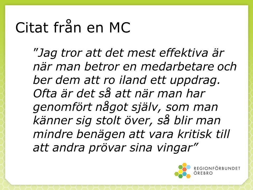 Citat från en MC