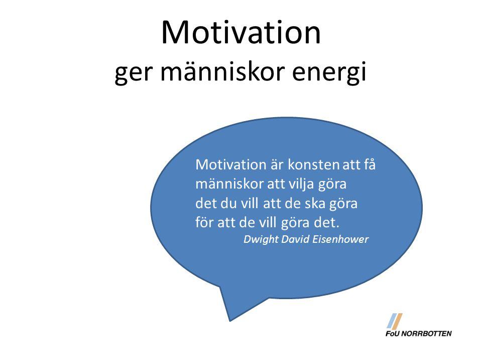 Motivation ger människor energi