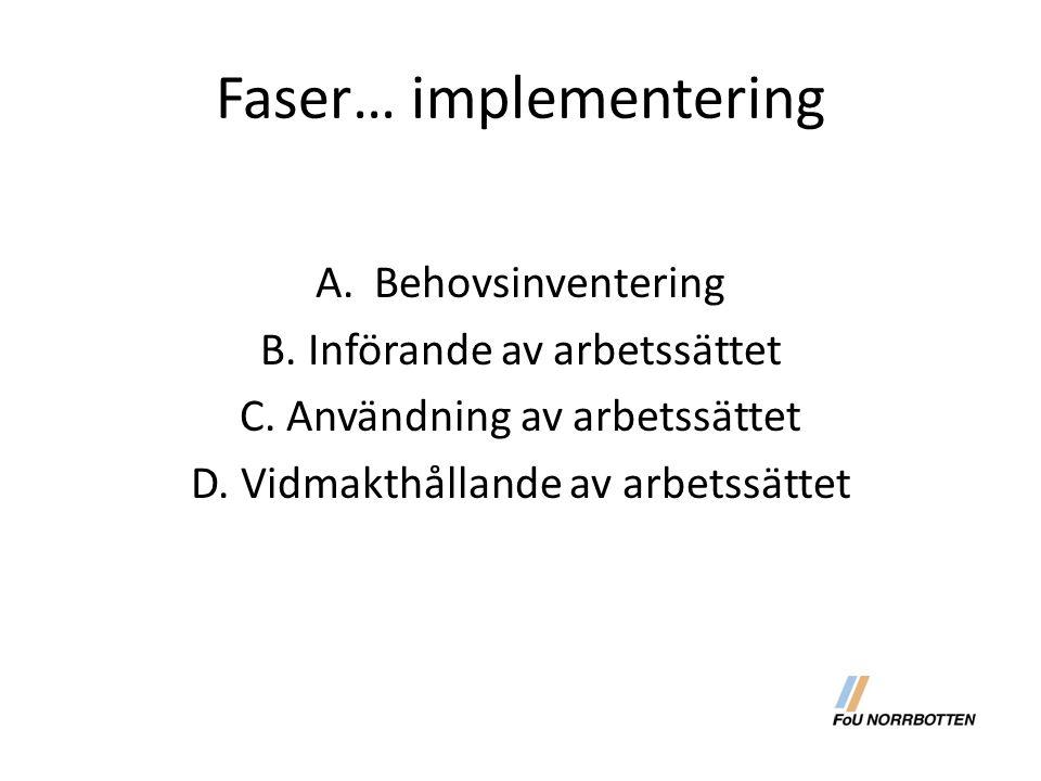 Faser… implementering