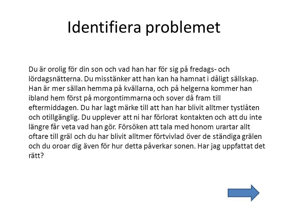 Identifiera problemet