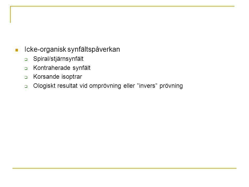 Icke-organisk synfältspåverkan
