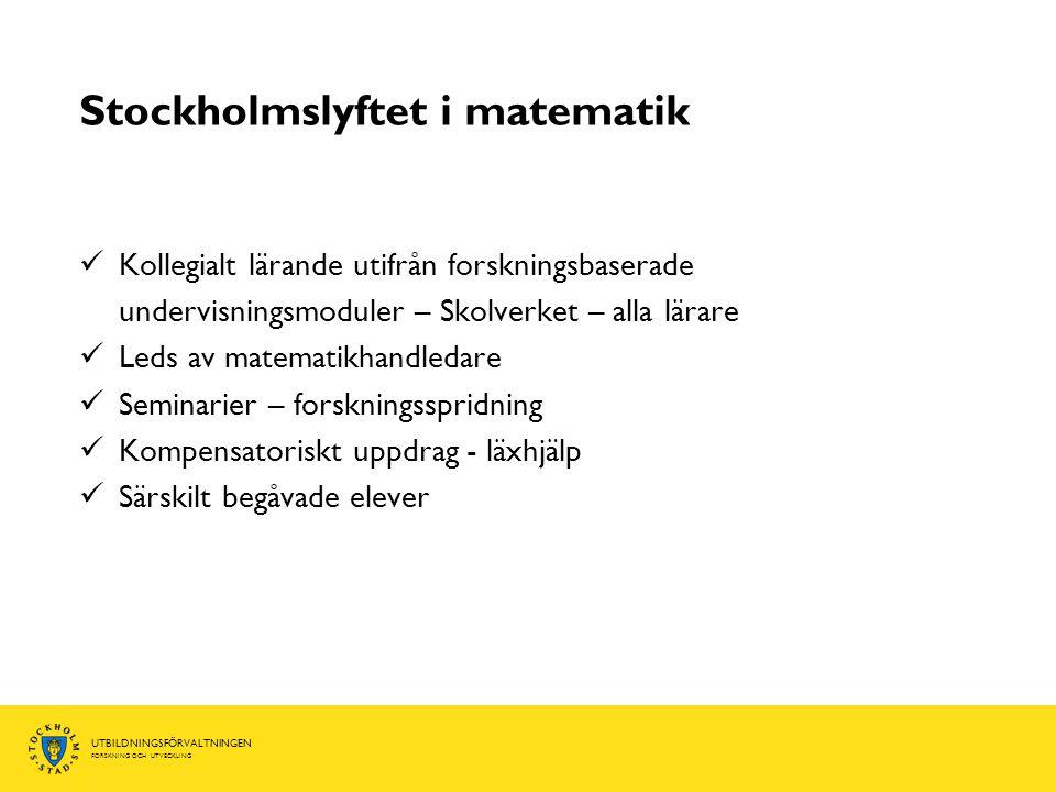 Stockholmslyftet i matematik