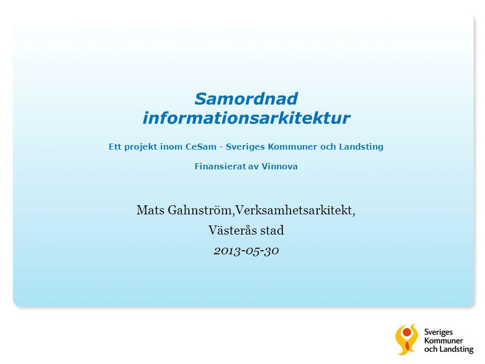 Mats Gahnström,Verksamhetsarkitekt, Västerås stad 2013-05-30