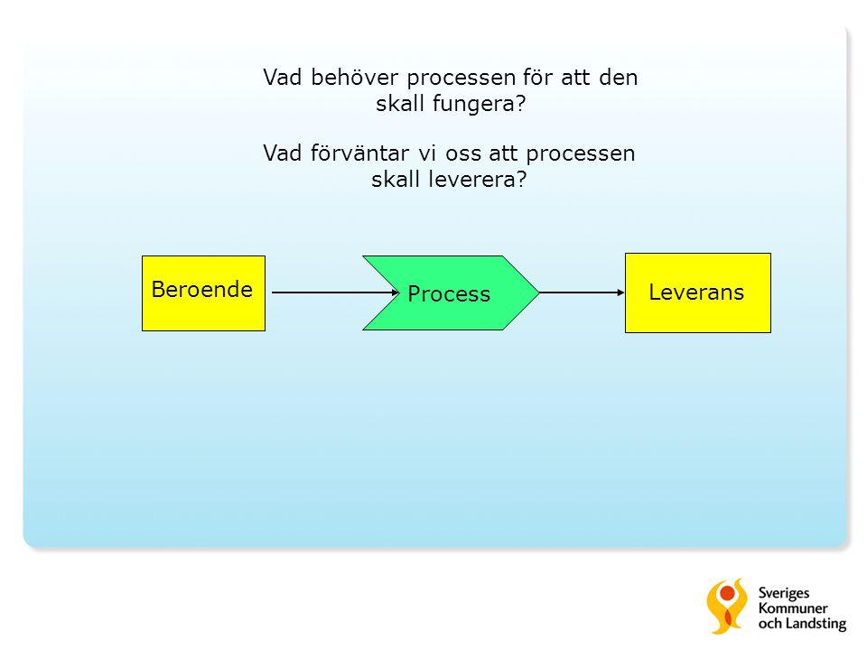 Vad behöver processen för att den skall fungera