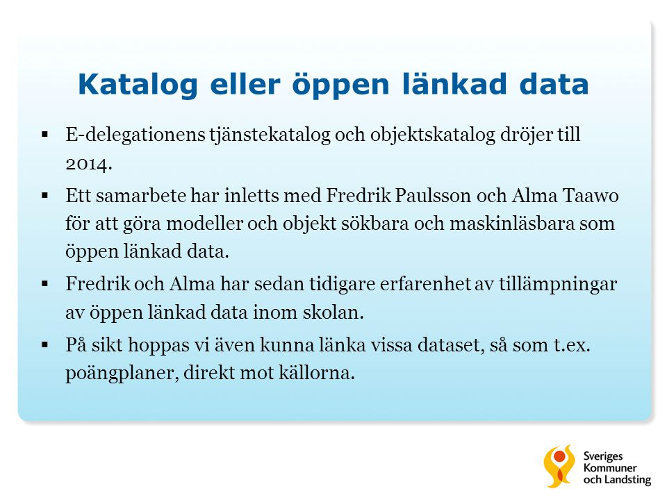 Katalog eller öppen länkad data