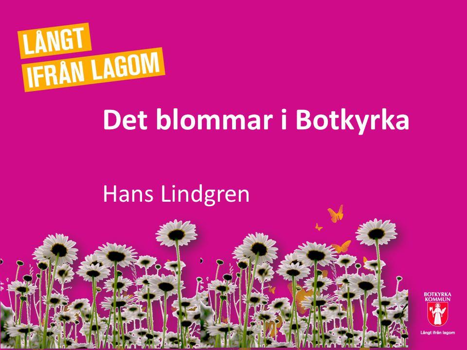 Det blommar i Botkyrka Hans Lindgren
