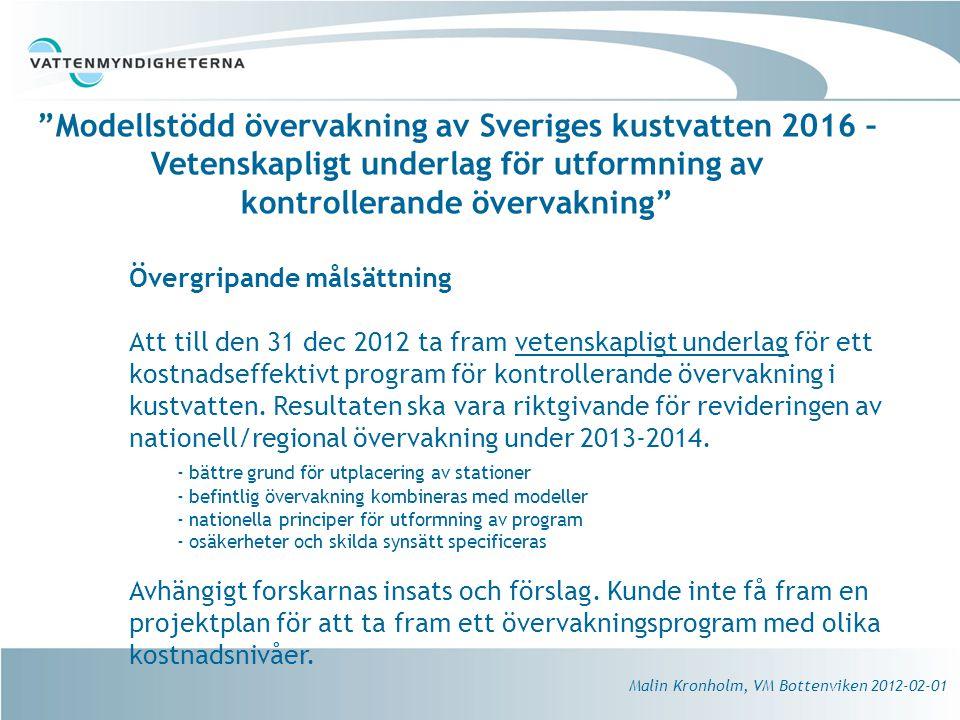 Modellstödd övervakning av Sveriges kustvatten 2016 – Vetenskapligt underlag för utformning av kontrollerande övervakning