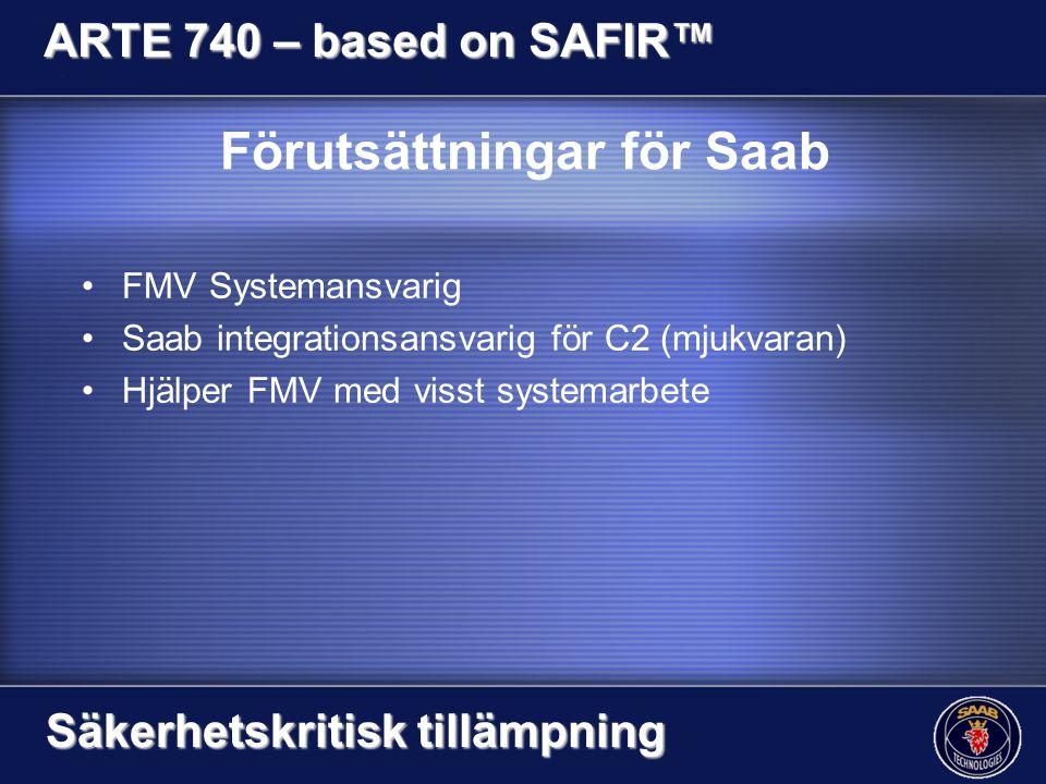 Förutsättningar för Saab