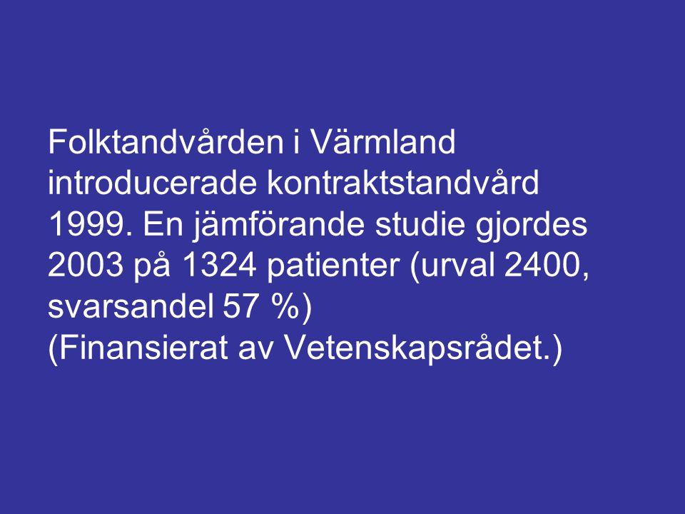 Folktandvården i Värmland introducerade kontraktstandvård 1999