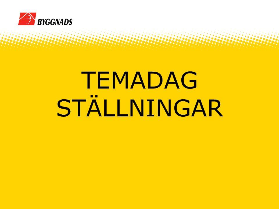 TEMADAG STÄLLNINGAR