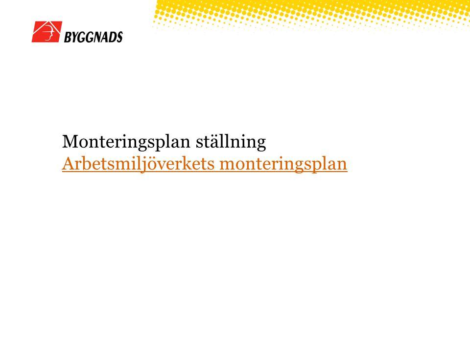 Monteringsplan ställning Arbetsmiljöverkets monteringsplan