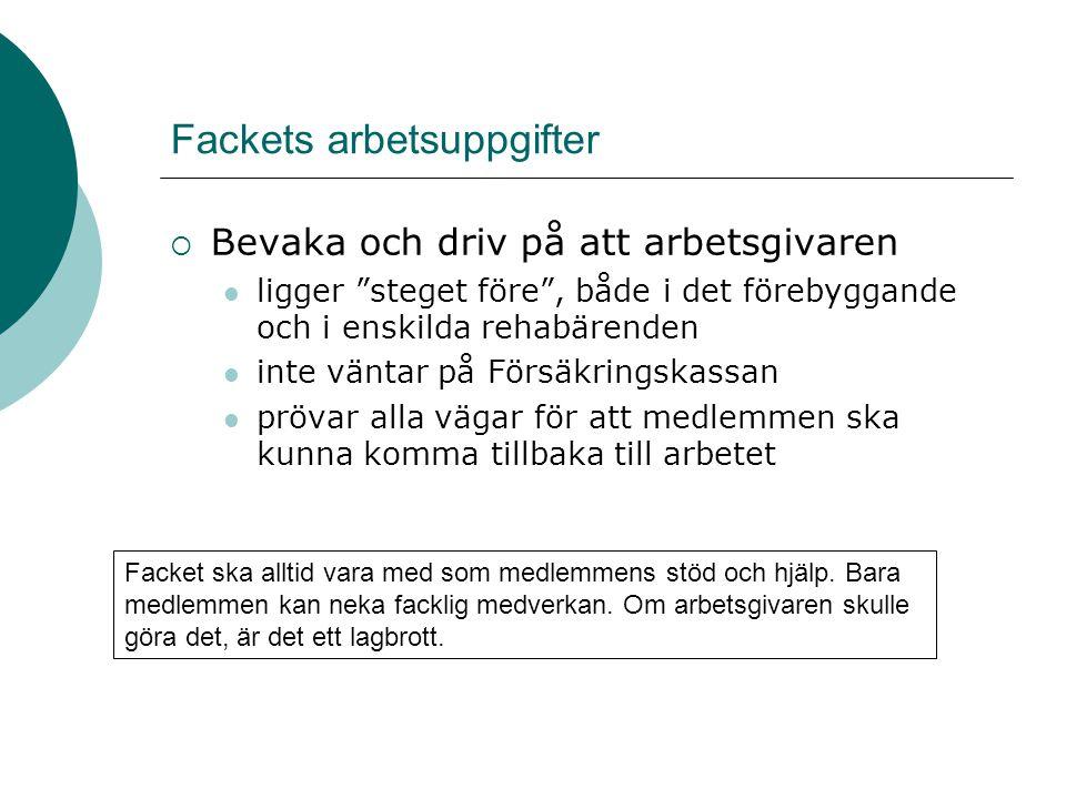 Fackets arbetsuppgifter