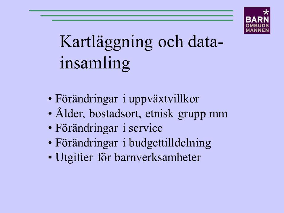 Kartläggning och data- insamling