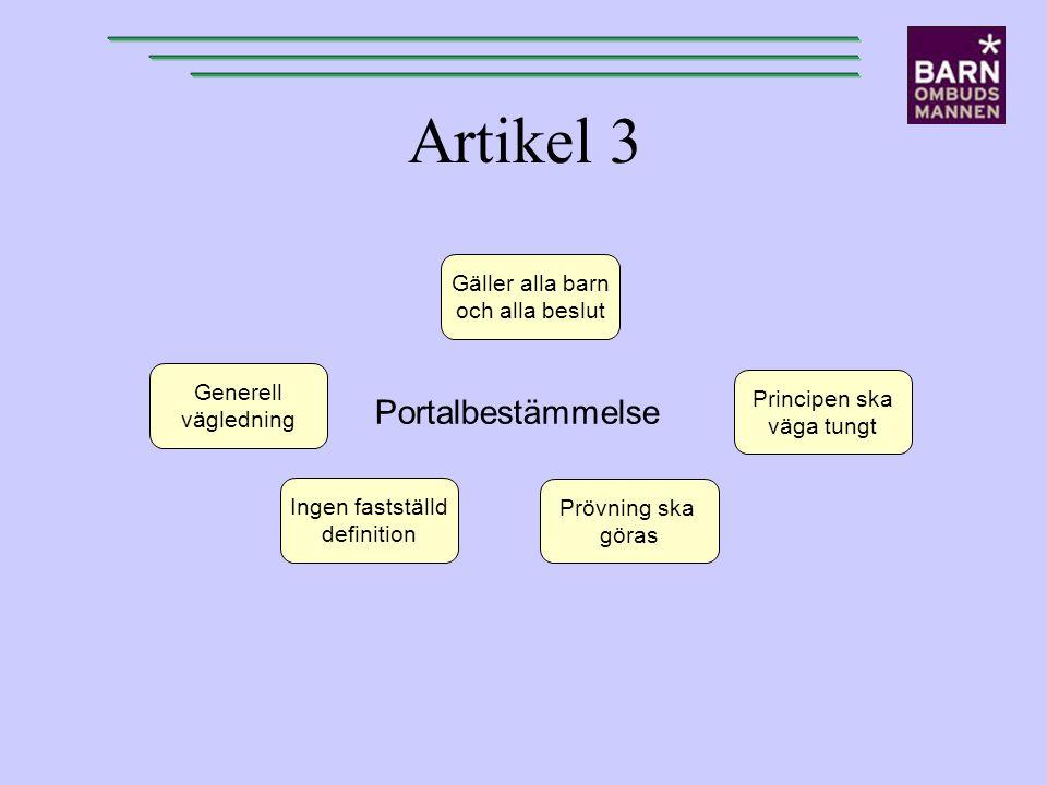 Artikel 3 Portalbestämmelse Gäller alla barn och alla beslut