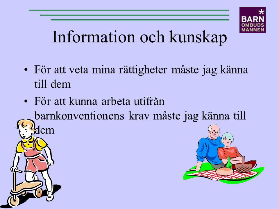 Information och kunskap