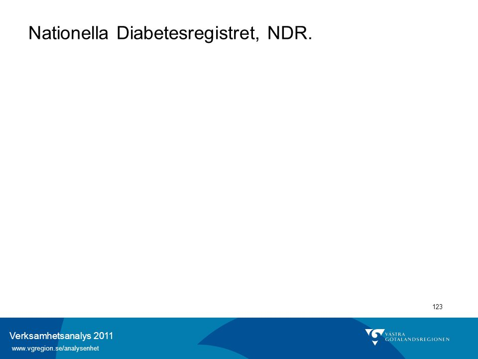 Nationella Diabetesregistret, NDR.