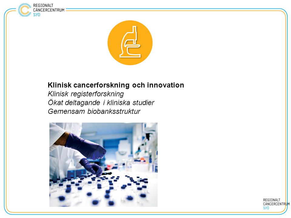 Klinisk cancerforskning och innovation