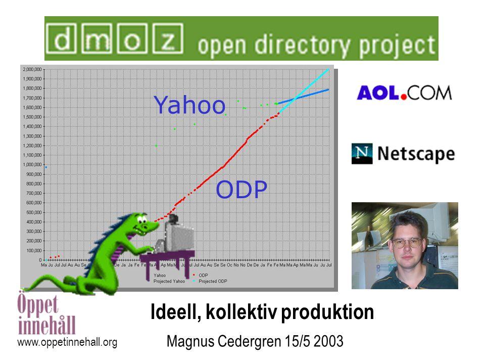 Yahoo ODP Ideell, kollektiv produktion