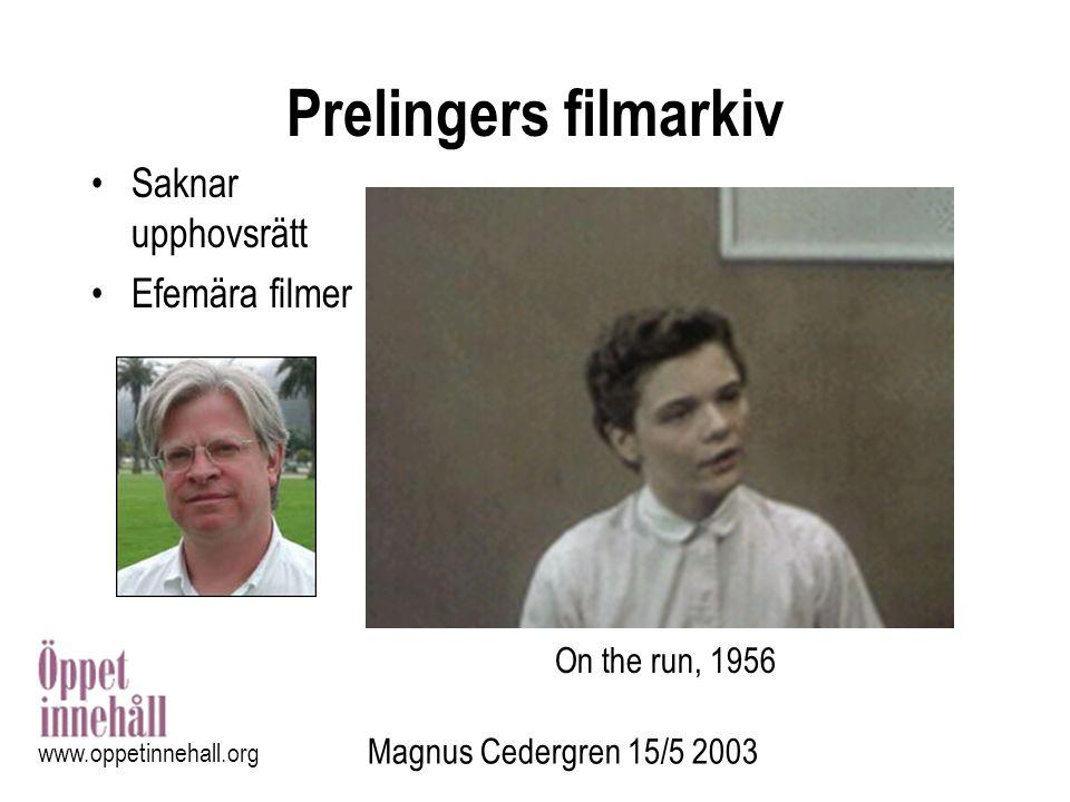 Prelingers filmarkiv Saknar upphovsrätt Efemära filmer