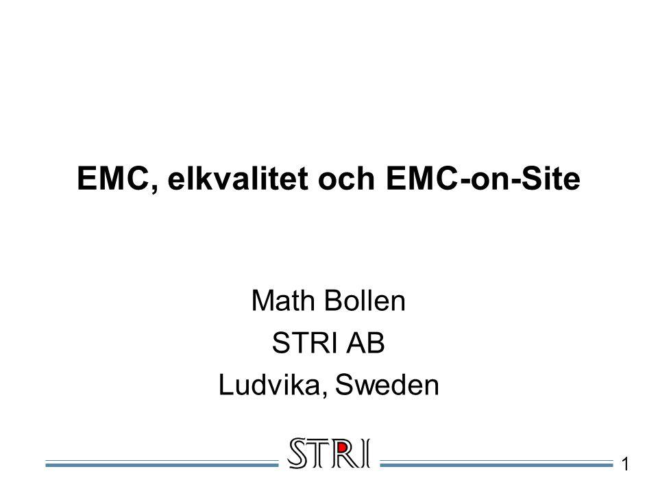 EMC, elkvalitet och EMC-on-Site