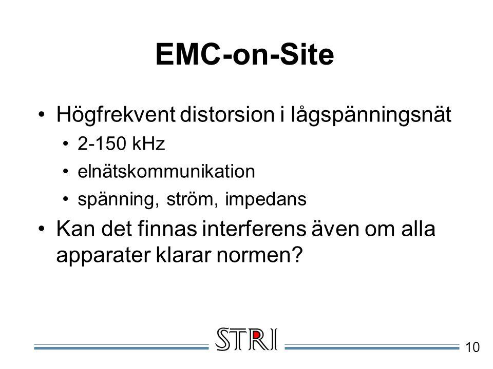 EMC-on-Site Högfrekvent distorsion i lågspänningsnät