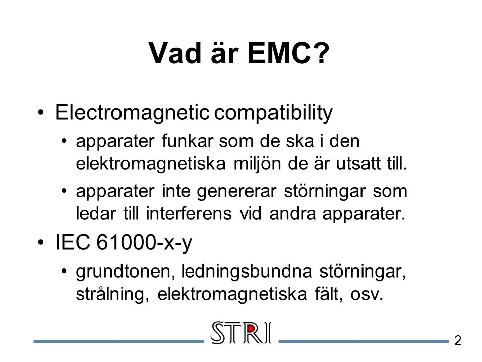 Vad är EMC Electromagnetic compatibility IEC 61000-x-y