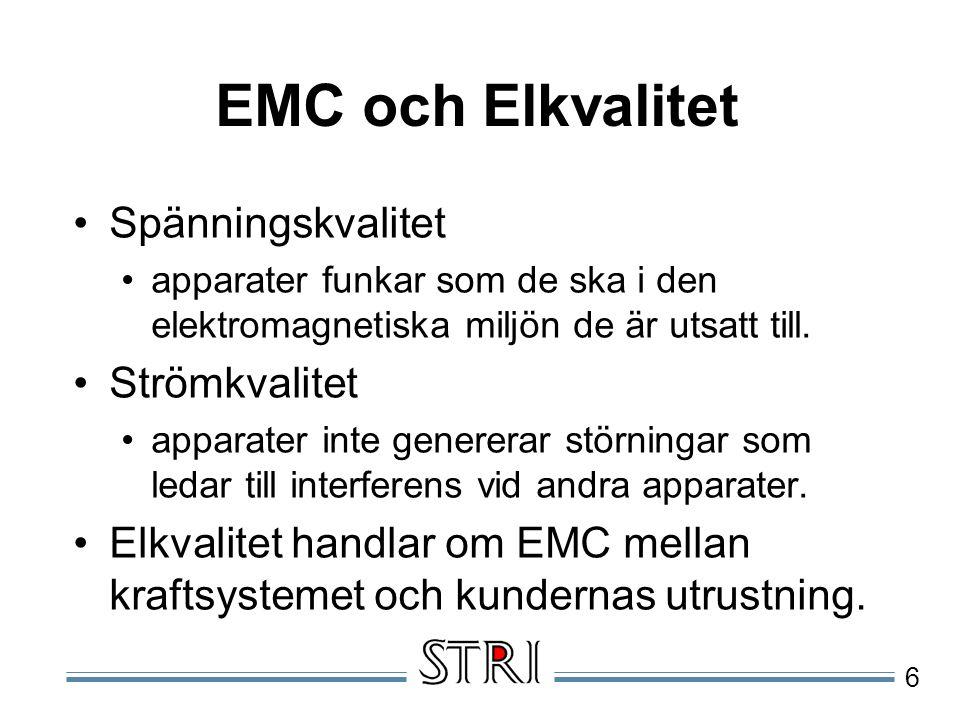 EMC och Elkvalitet Spänningskvalitet Strömkvalitet