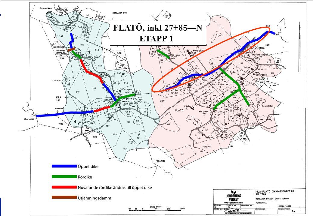 FLATÖ, inkl 27+85—N ETAPP 1