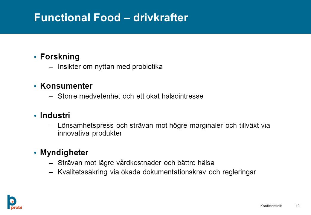 Functional Food – drivkrafter