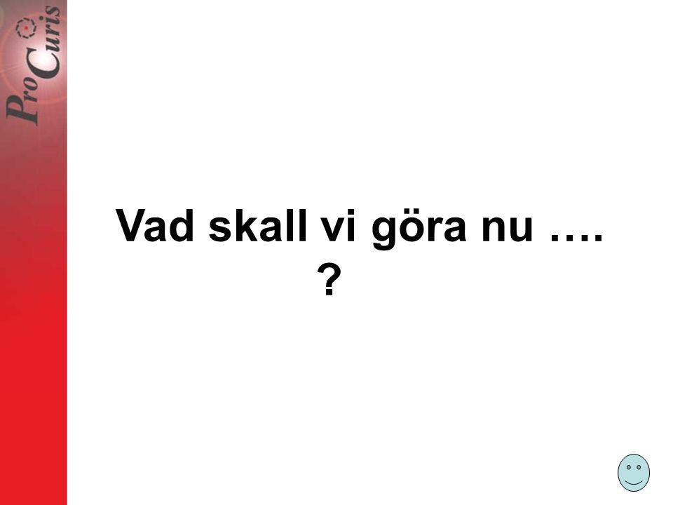 Vad skall vi göra nu ….