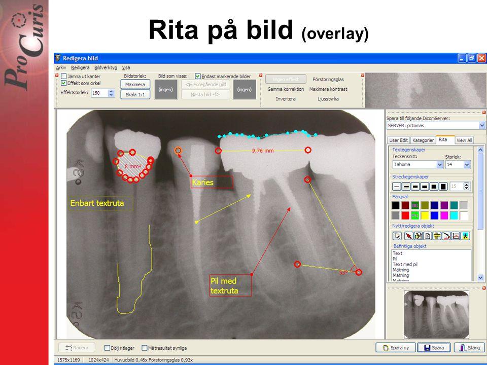 Rita på bild (overlay)