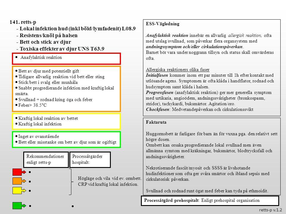 - Lokal infektion hud (inkl böld/lymfadenit) L08.9