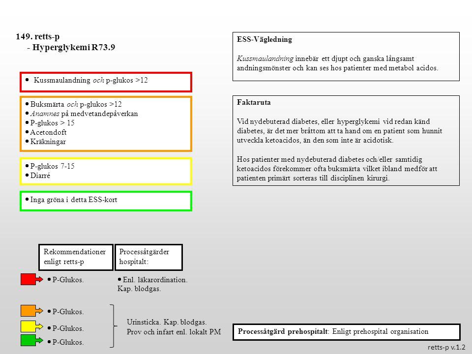 149. retts-p - Hyperglykemi R73.9 ESS-Vägledning