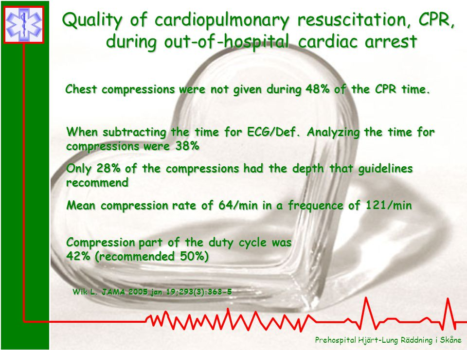 Quality of cardiopulmonary resuscitation, CPR,
