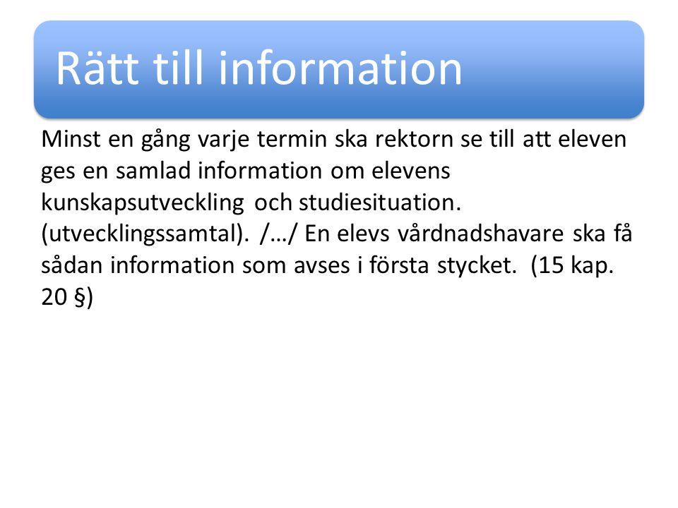 Rätt till information