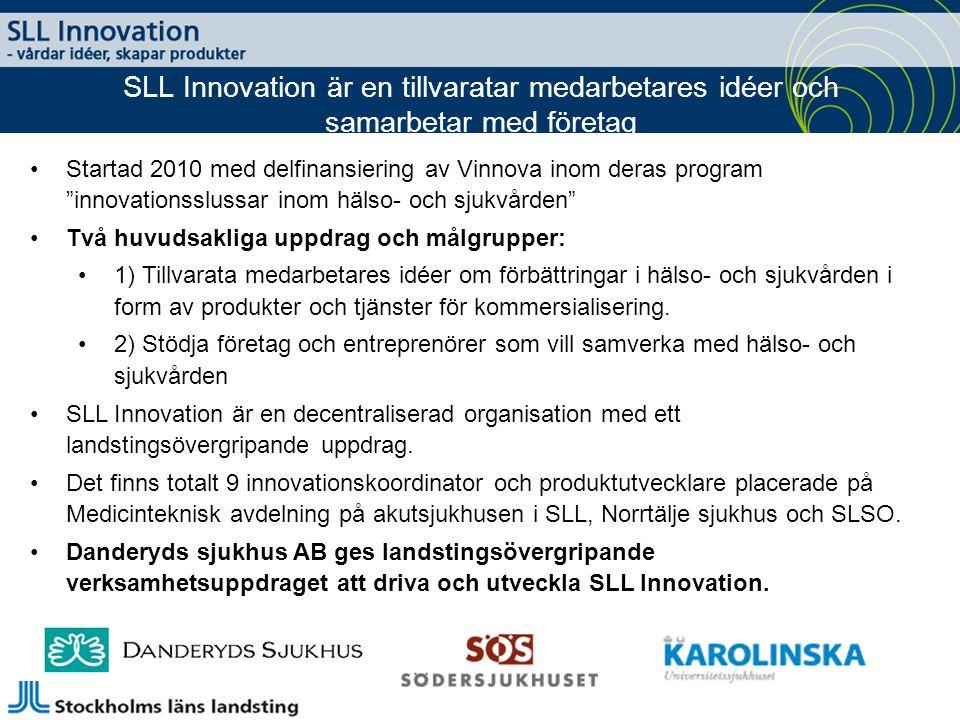 SLL Innovation är en tillvaratar medarbetares idéer och samarbetar med företag