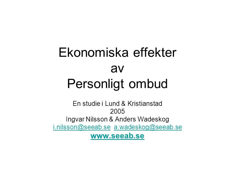 Ekonomiska effekter av Personligt ombud