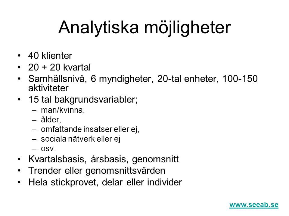 Analytiska möjligheter
