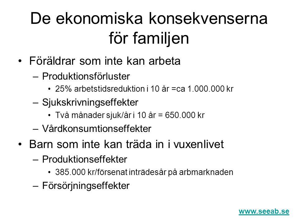 De ekonomiska konsekvenserna för familjen