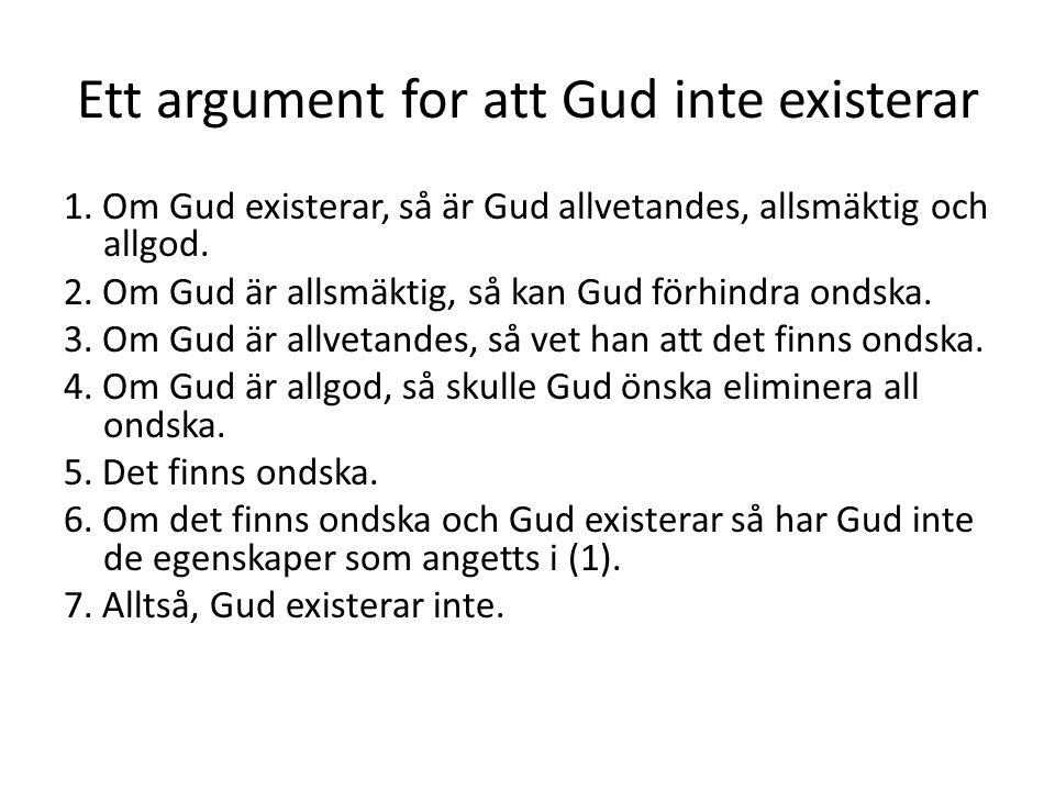 Ett argument for att Gud inte existerar