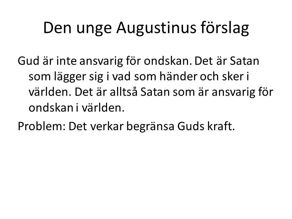 Den unge Augustinus förslag