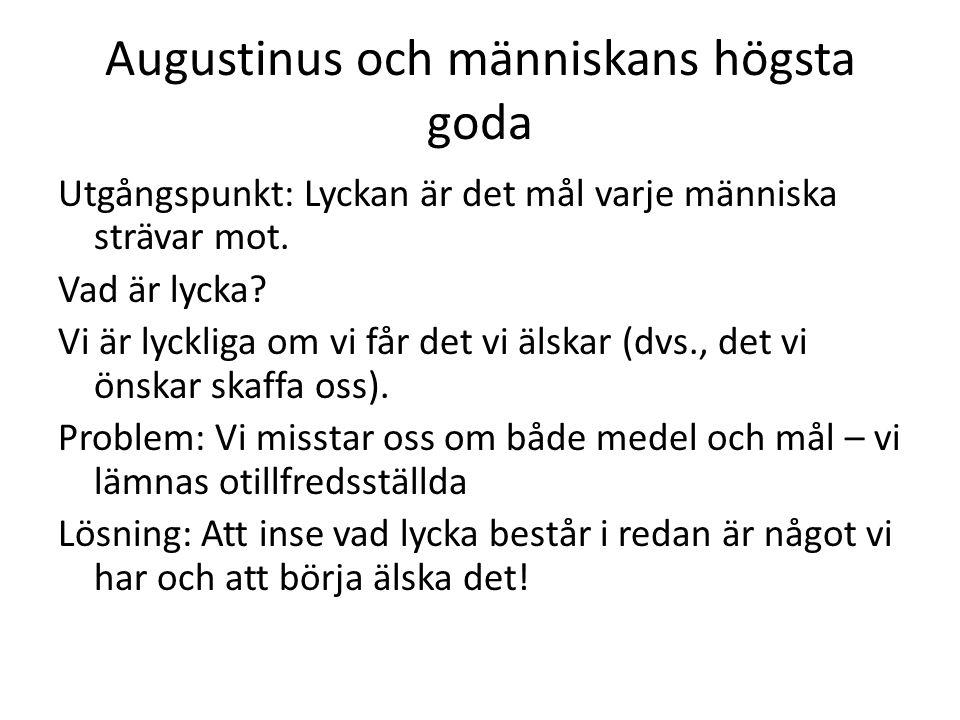 Augustinus och människans högsta goda
